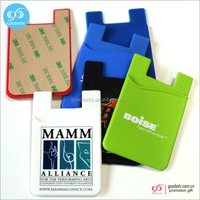 Guangzhou cheap wholesale custom silicone mobile cell phone credit card holder
