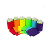 Multi Color Blank Can Coolers Sleeves Coolies For Cans Beer Collapsible Insulator Perfect for BBQ Wedding Parties