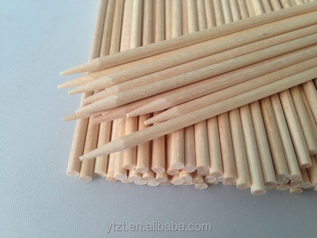birch wooden skewer in diameter 2.5mm