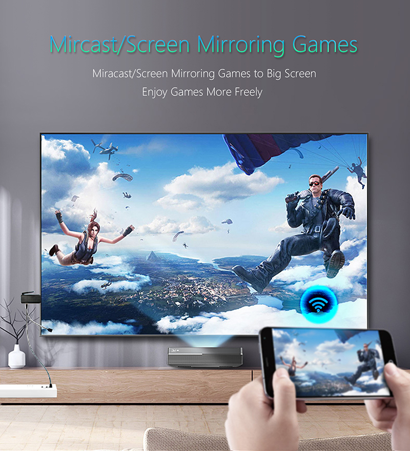 Wireless Display Dongle Miracast DLNA Airplay 4K Quad Core TV Stick