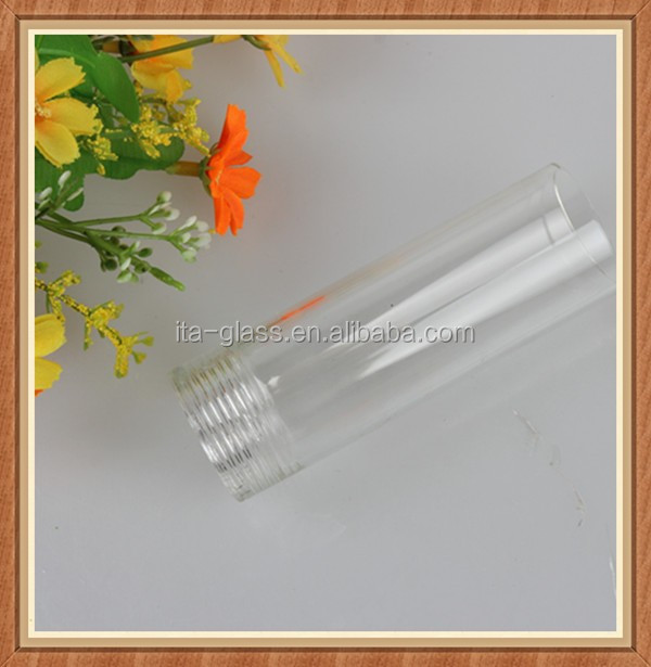 Heat resistant hanging ceiling halogen glass lamp tube cover