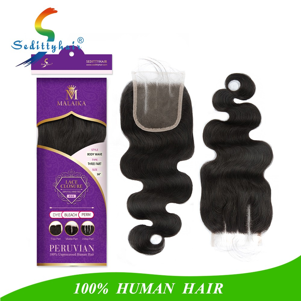 Seditty hair lace closure 4*4 lace frontal 13*4 for human Hair Weaving Cheap Price 100% virgin human Hair Extensions in Dubai