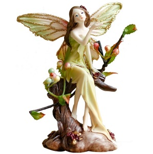 Customized OEM/ODM Creative Beatiful Forest Fairy Angel Resin Figure Arts & Crafts Home Office Decoration Gift