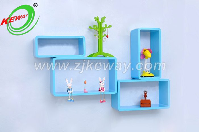 rectangle adjustable wall display shelves