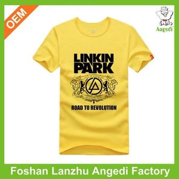 Printing Cotton T Shirt/logo Printing T Shirts/rubber Print T ...