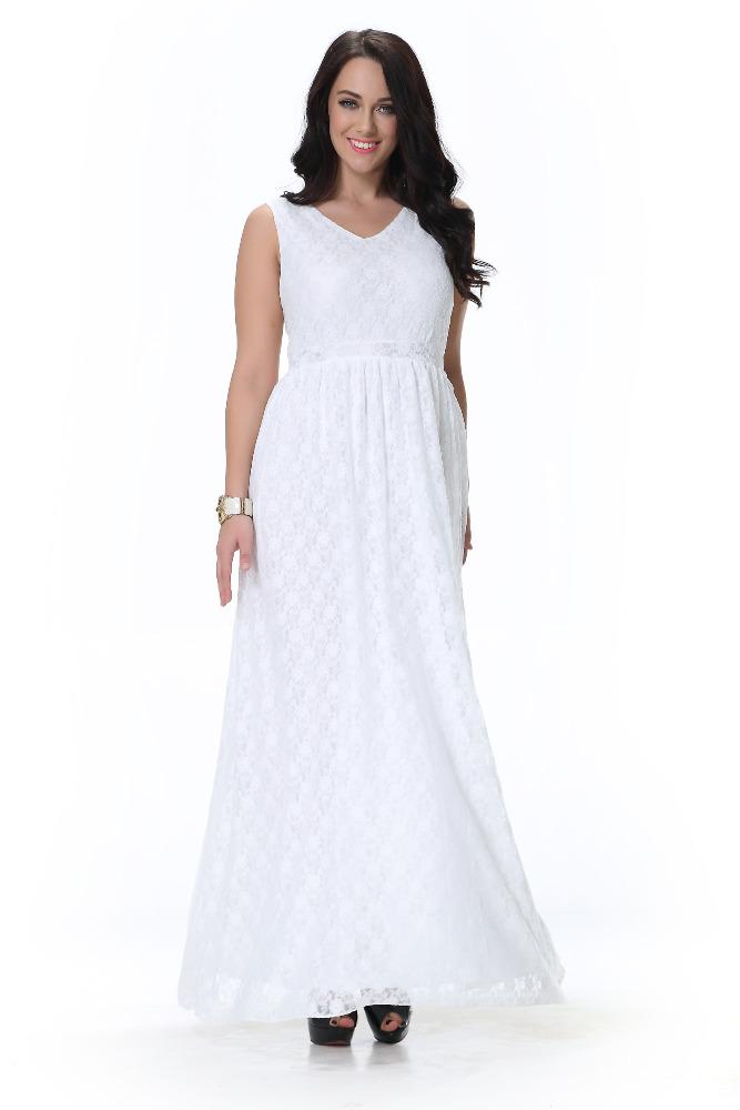 Vestidos de noche blanco para gorditas