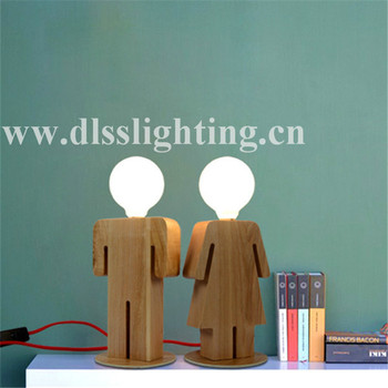 modern wireless wooden boy and girl funky table lamps e with saa, Lighting ideas