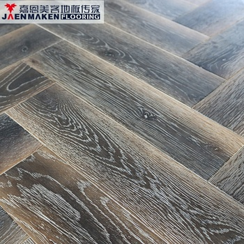 Oak Solid Wood Brushed Herringbone Parquet Flooring View Brushed