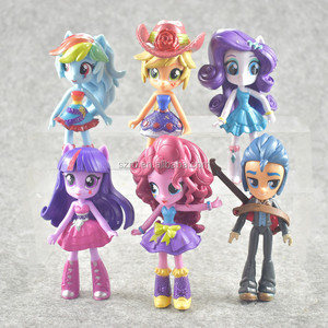 Beautiful rarity pink pony figure for girls gift/6pcs girls horse pony PVC figurine