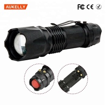 Rechargeable Mini Led Torch Zoom 3 Modes Zoom Dimmer mini military flashlight