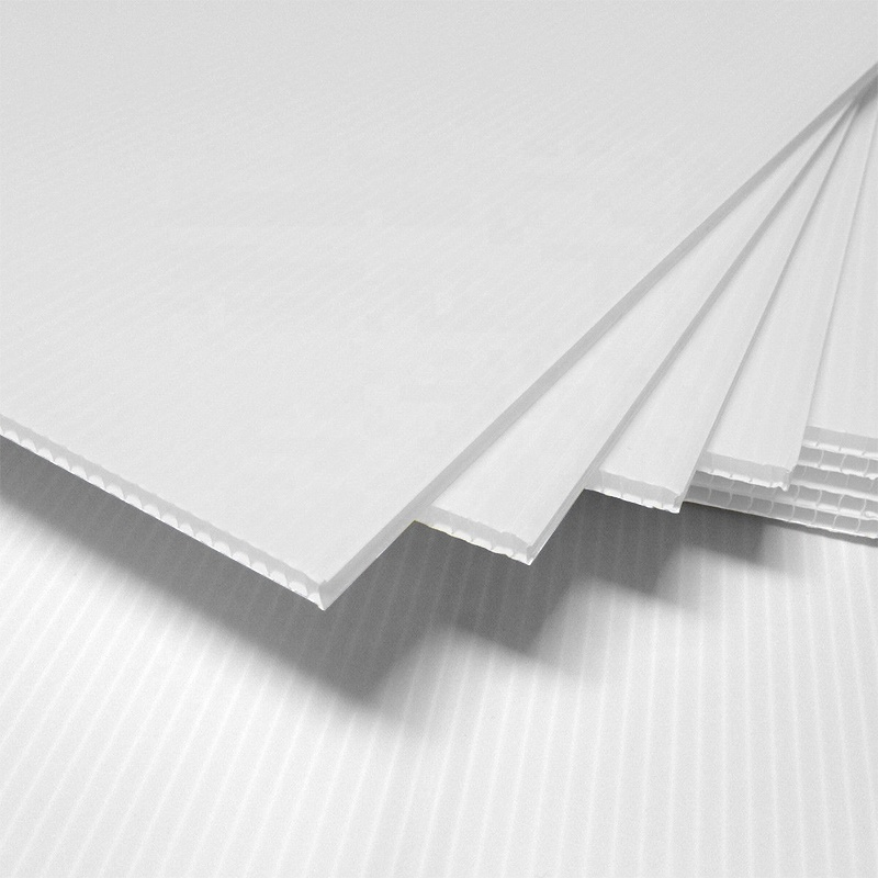 White 4'x8' Coroplast <strong>Sheet</strong>, Coroplast for digital &amp; silk screen printing