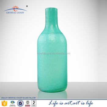 Cheap colored glass vases glass centerpiece vases colored for Where to buy colored wine bottles