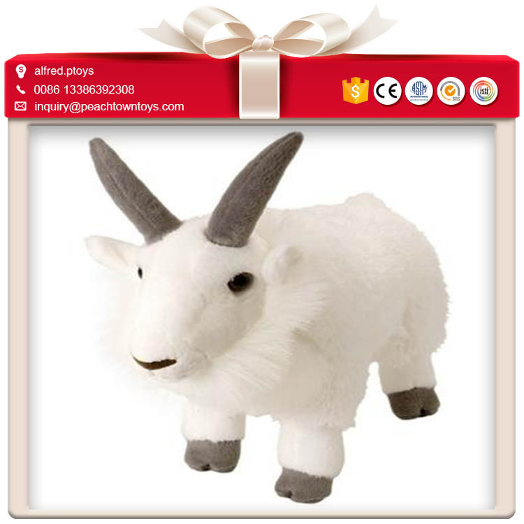 Soft touch feeling serious face stuffed goat plush