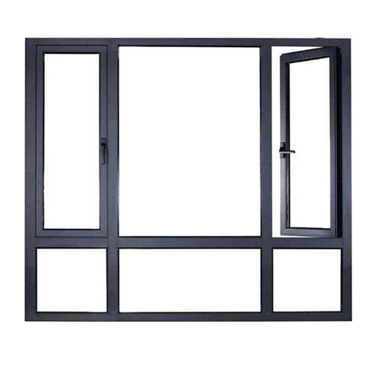 Aluminium Frame Powder Coating Aluminum Sliding Window with Tempered Glass