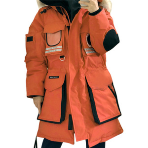for canada winter goose down jacket women uniform parka fashion coat made in china