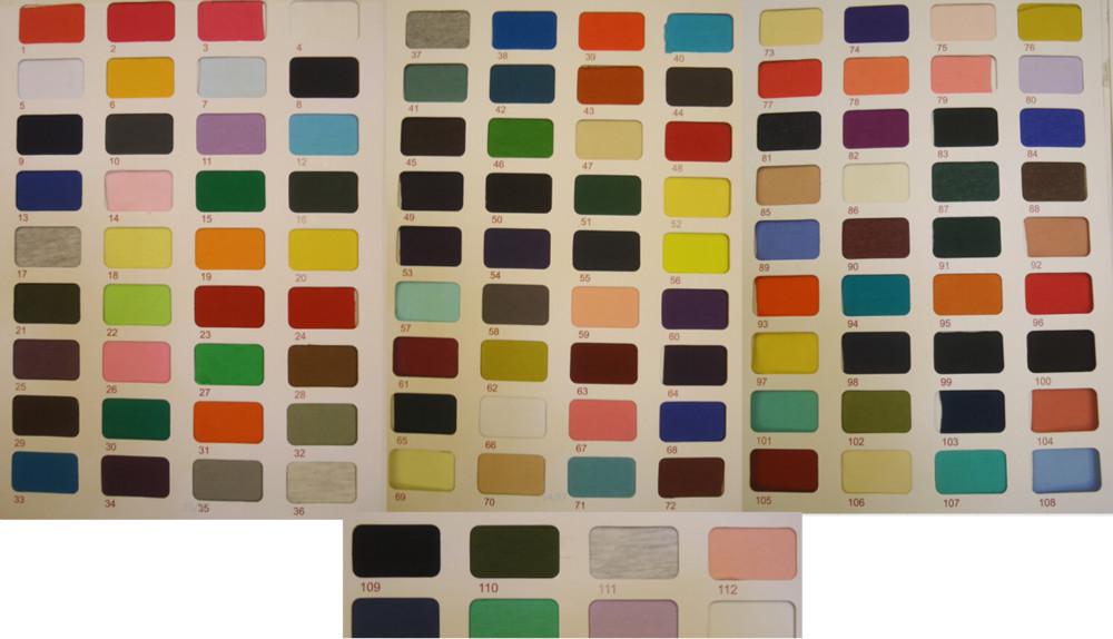 Knit cotton color charts