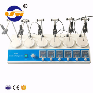 6 unit Digital display thermostatic control Lab magnetic stirrer mixer