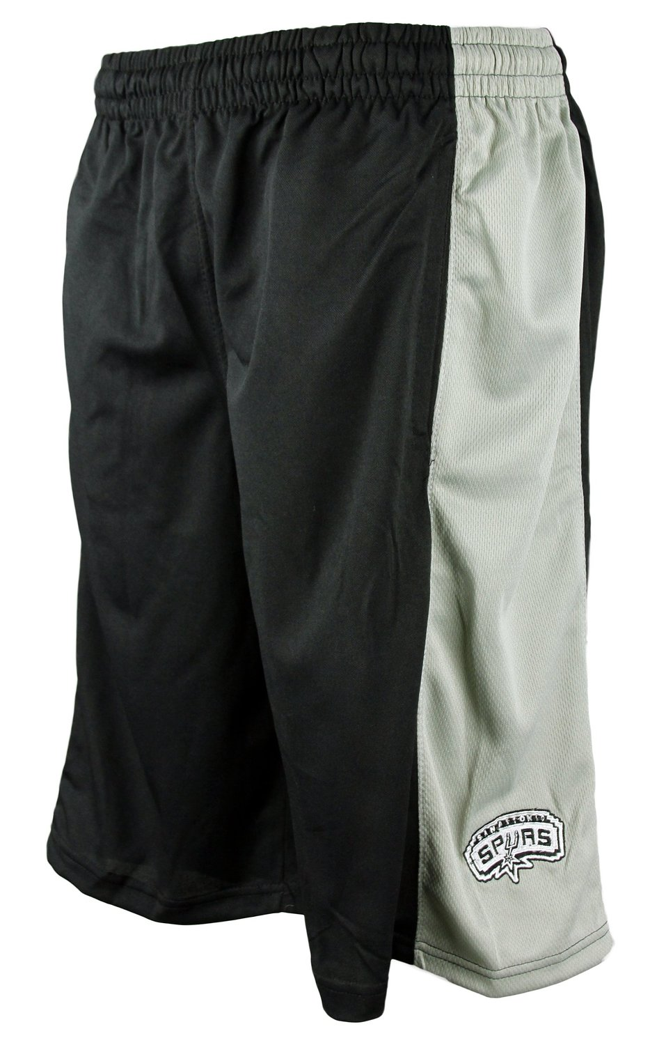 3791a5789 Get Quotations · San Antonio Spurs NBA Zipway Black Microfiber Shorts