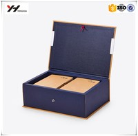 Magnetic closure cardboard book shaped decorative book boxes