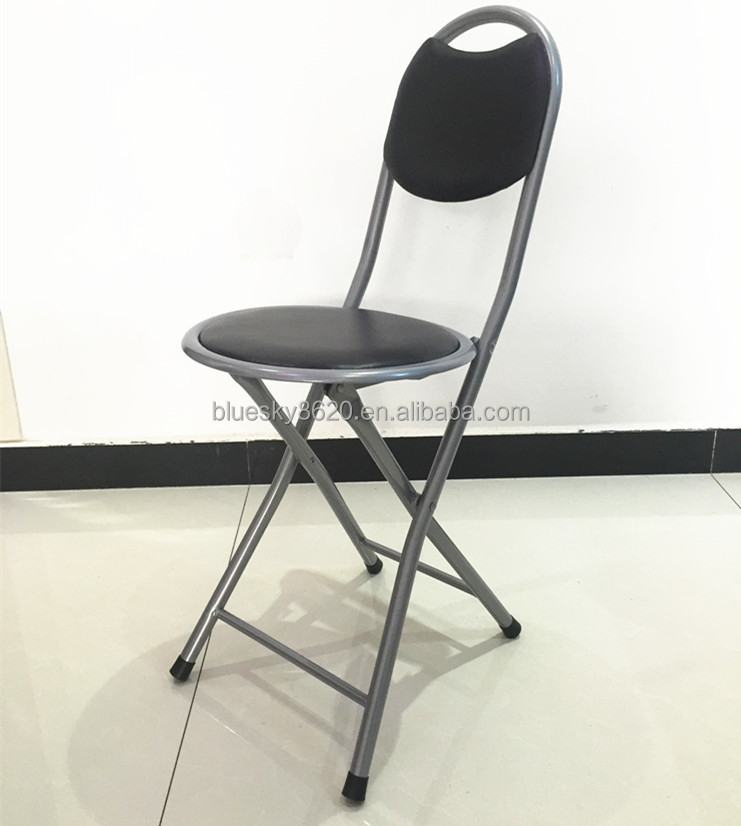 Pas cher en cuir pu chaise pliante en m tal pour salle manger jardin chaise - Chaise metal pas cher ...