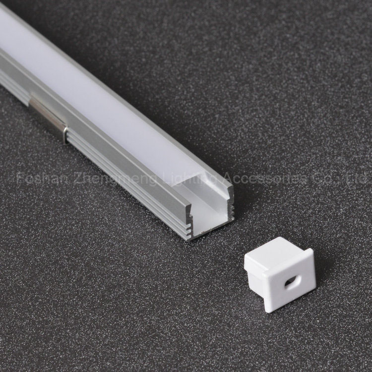 16*12mm led t track aluminum extruded plastic channel profile for led led plastic housing strips