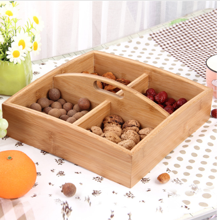 Vintage handmade solid wooden fruit crate