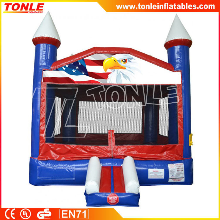 Patriotic Red White & Blue inflatable Bounce House, inflatable castle, inflatable jumper
