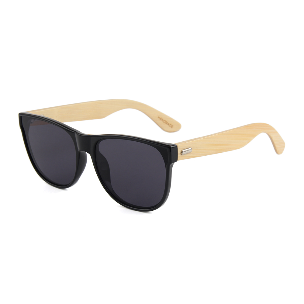 2017 fashion flat lens custom your own brand logo bamboo sunglasses china, Custom colors