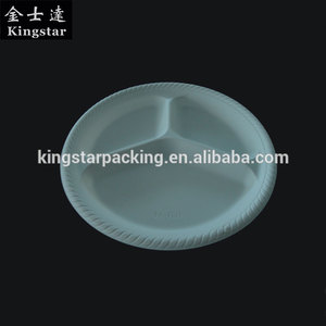 Disposable Biodegradable Cornstarch Tableware 9 inch Round Plate