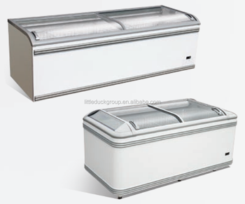 Plug-in island freezer for frozen food