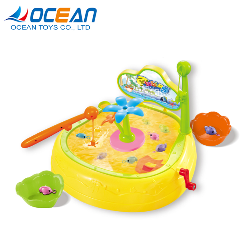 Children funny fishing match lovely fishes 2pcs fishing tool set with hook