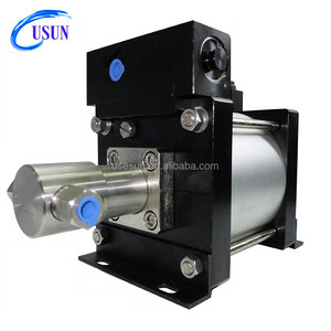 Widely used USUN brand Model:AH100 800 Bar output High pressure Gas powered Hydraulic pump for chemical metering injection