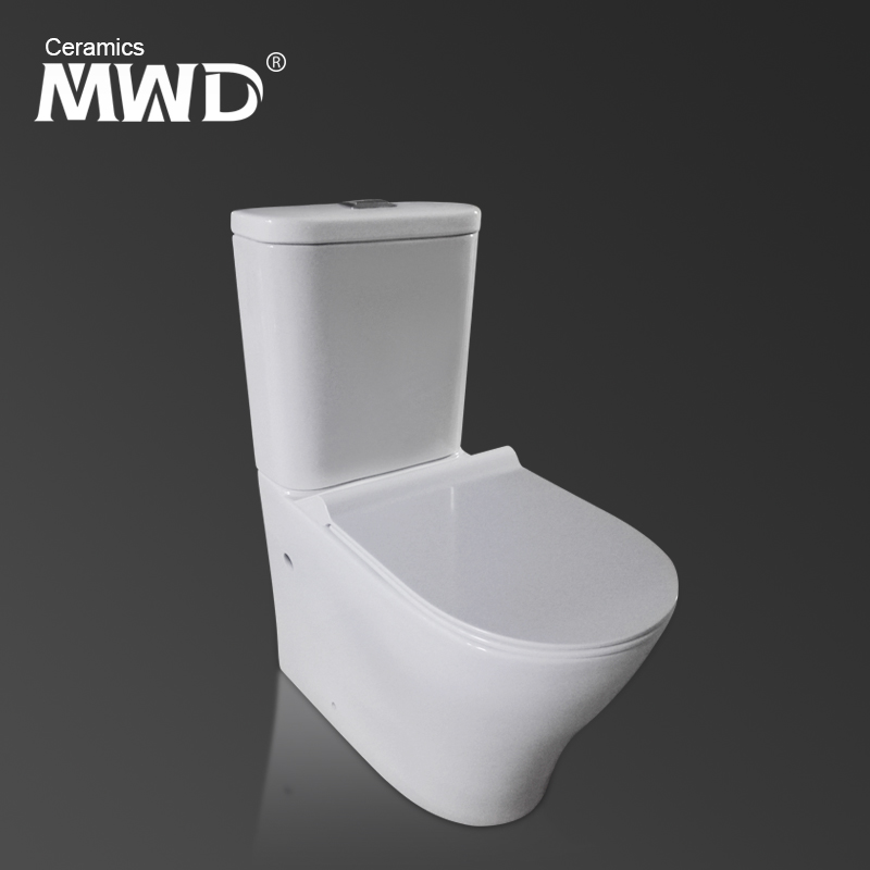 Movewayda toilet bowl contemporary strong flush function water sense