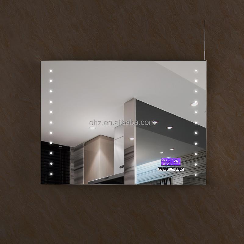 haute qualit acier inoxydable h tel musique bluetooth miroir avec la lumi re et radio miroir id. Black Bedroom Furniture Sets. Home Design Ideas