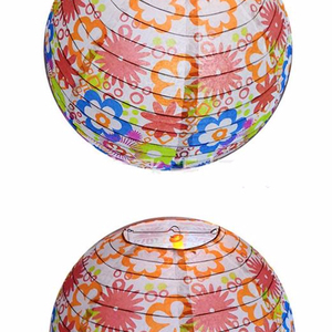 High quality custom hand painted waterproof Round Chinese paper Lanterns