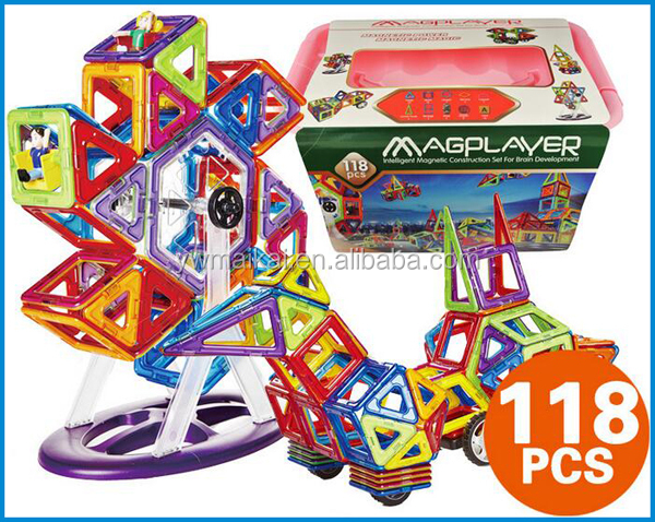 Kids DIY blocks toys intelligent magnetic building set for brain development