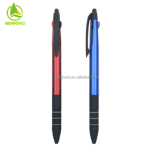 Custom Design Promotional Advertising Press Type Stylus Ball Point Pens Blue Black Red