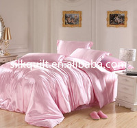 Light Pink Bedding sets Silk sheets California king size queen double quilt duvet cover bed