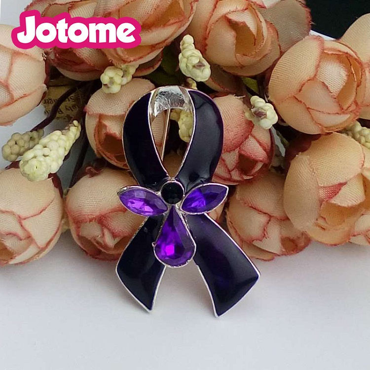 1.2 Inch enamel Pink ribbon Breast Cancer Awareness Brooches pins