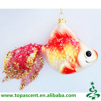 animated hand painted fish glass christmas ornaments wholesales from direct factory in china - Animated Christmas Ornaments