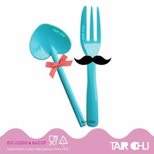 Birthday Party Supplies Food Grade Plastic Appetizer Spoon and Fork for Cake Decorating