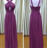 Chaozhou Factory Chiffon Fabric V Neck elegant girl bridesmaid dress