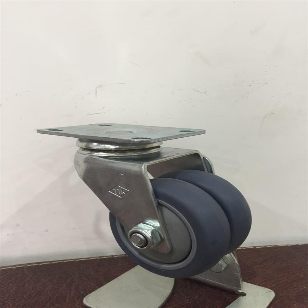 75mm Airline Trolley Dual Caster