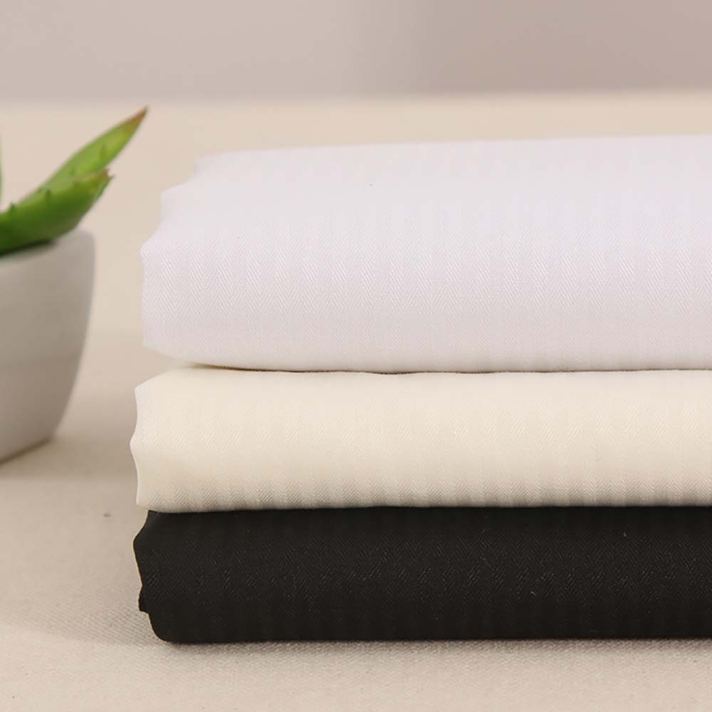 100% cotton combed PIMA 60*60 sateen woven shirts sheet twill white fabric