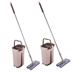 Microfiber cleaning double side flat mop