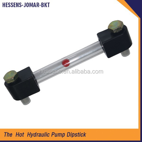Hydraulic oil dipstick level gauge for excavator
