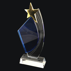 Custom customized crystal trophy glass award star trophy award
