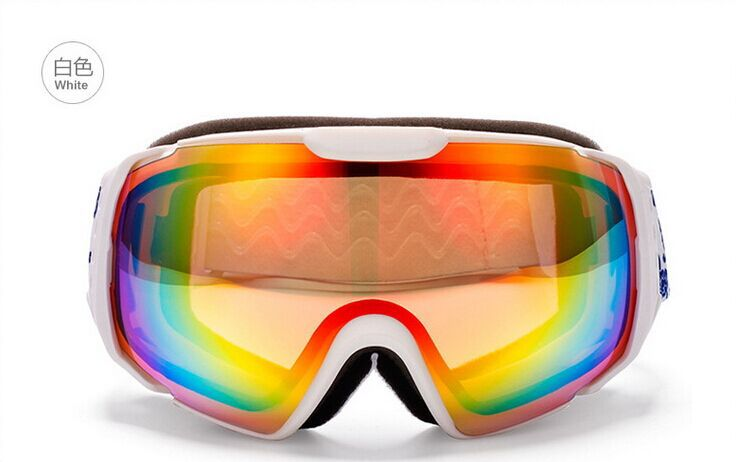 64d9be953805 Get Quotations · Brand Womens Ladies white frame Rainbow Lens Snowboard Ski  Snow Goggles Sunglasses Anti-fog outdoor