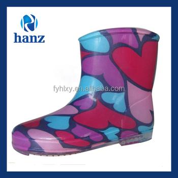 0e9228ffc16 Rosa crianças curtas meninas encantadoras baratos de plástico botas de ...