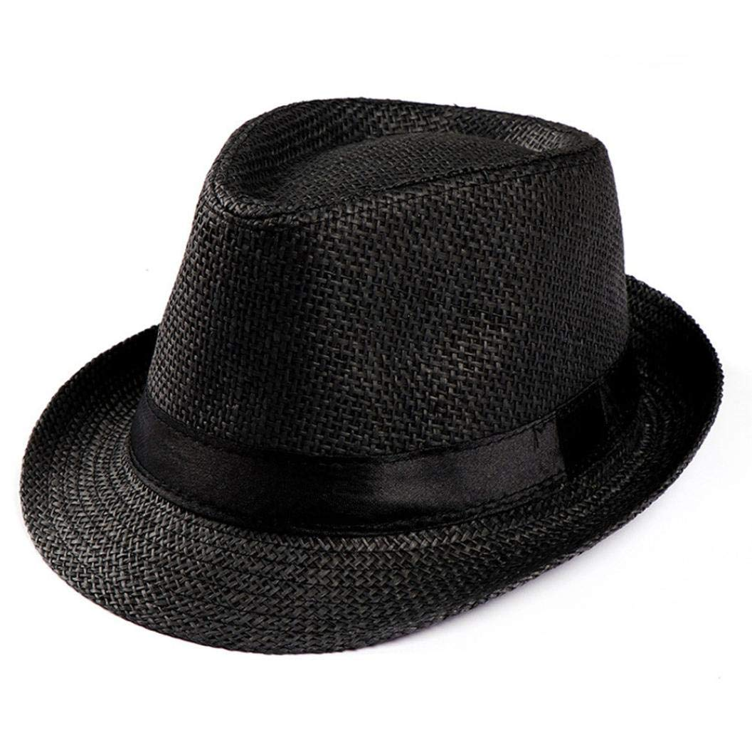 Get Quotations · LIULIULIU Unisex Trilby Gangster Cap Beach Sun Straw Hat  Band Sunhat Sonoma Prints Straw Hat ( 7b79bf9bbbe7